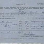 School attendance certificate