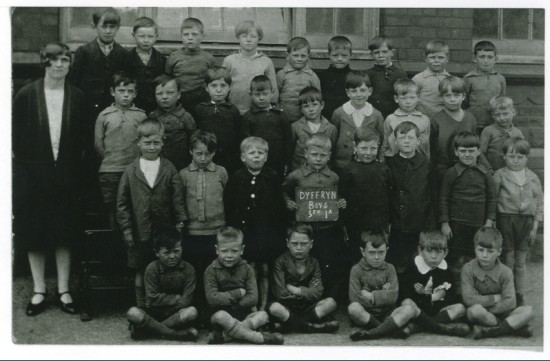Dyffryn Boys School.  Std 1A Class Photograph