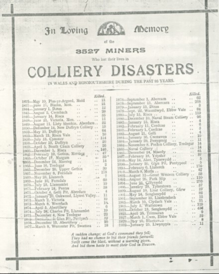 Colliery Disasters