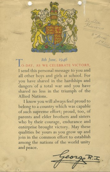 Victory Certificate, 1946