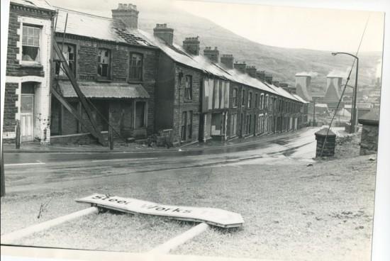 Waunlwyd, General.  Station Road  before demolition.