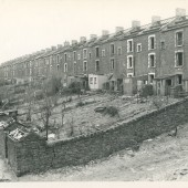Cwm Road, Waunlwyd, during demolition