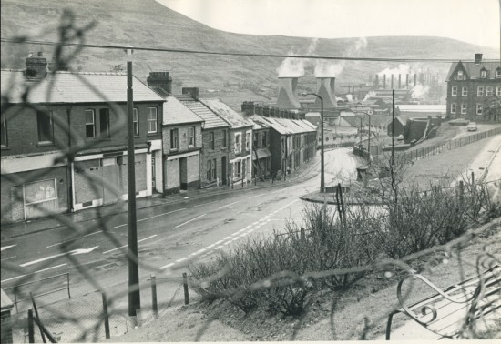 Station Road, Waunlwyd, in the 1970s