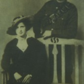 Amos John and Charlotte Harris on their wedding day