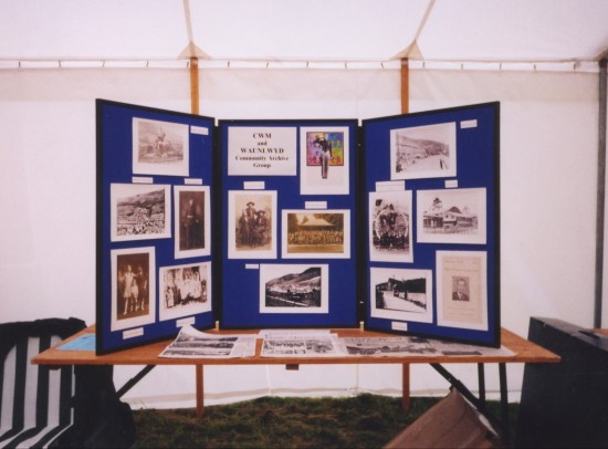 Cwm and Waunlwyd Community Archive display