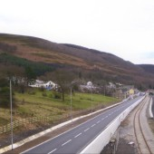 Cwm Bypass looking south from St. Paul's Bridge