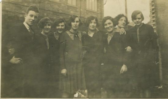 Staff of Sallis' shop, 1920s