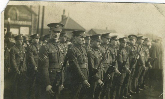 Monmouthshire Regiment at the Crossing Ebbw Vale