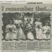 Cwm Carnival Queen and Court1950