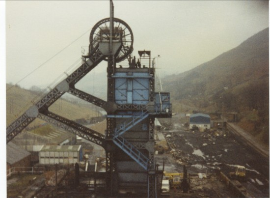 Marine Colliery Pit shaft No. 2 taken from Pit shaft No. 1.