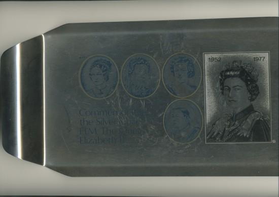 Queen's Silver Jubilee Commemorative Tray