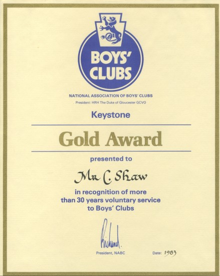 Boys' Clubs Award