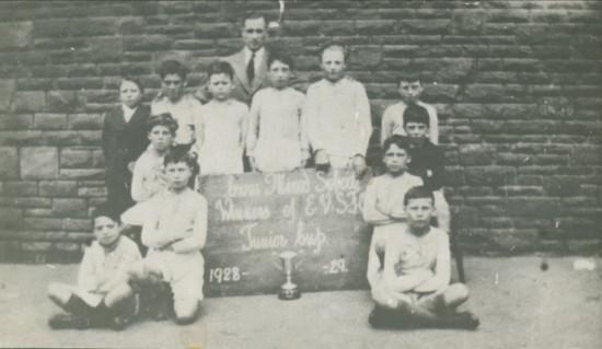 Cwm Mixed School (Top) E.V.S.F.Cup Winners 1928  1929