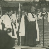 Foundation Stone laid by The Bishop of Monmouth.