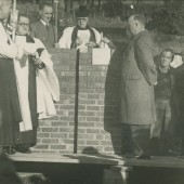 Dedication of Foundation Stone of St.Matthew's Church,Tyllwyn.