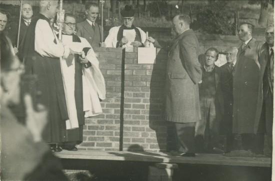 Dedication of Foundation Stone of St.Matthew's Church,Tyllwyn.