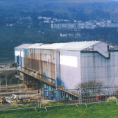 The Pickler before Demolition on the Corus Site, view across the valley to Ebbw Vale.
