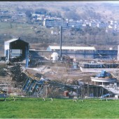 The Pickler after Demolition, view across to Ebbw Vale.