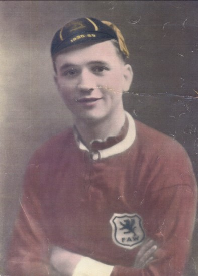 Eugene O'Callaghan,Wales Football International 1st Cap 2nd February 1929.