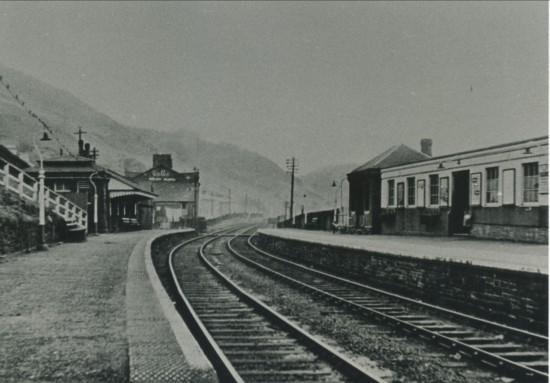Cwm Railway Station,view South