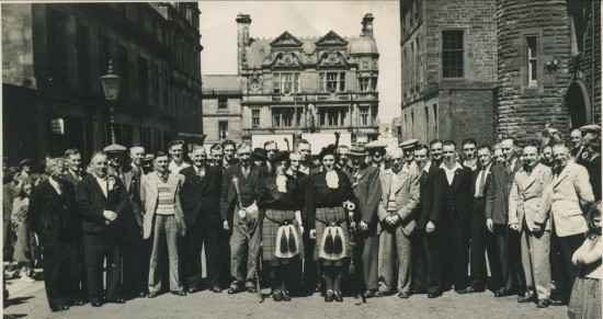 Quoits International in Hardgate,Glasgow in 1955 between WALES and SCOTLAND.