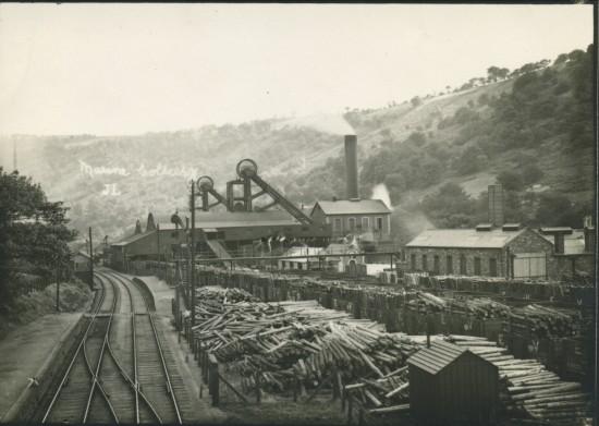 Marine Colliery,Cwm,view South.