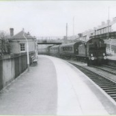 Stephenson Rail Special passing through Cwm Station.