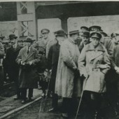 Edward,Prince of Wales visiting No 5 Pit by Garden City in 1918,this pit was then named after him.