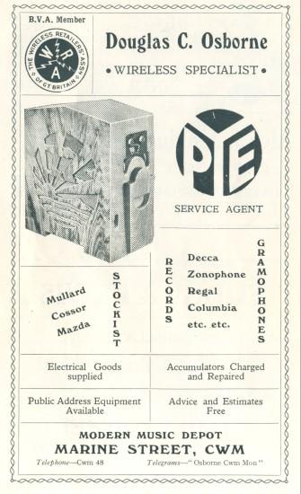 Douglas Clifford Osborne,wireless specialist.