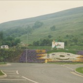Gryff,Garden Festival Wales Mascot,Floral Display