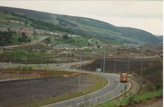 Garden Festival Wales Construction,view South towards Cwm.