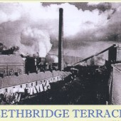 View South of Ebbw Vale Steelworks and Lethbridge Terrace