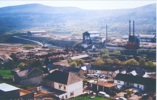 Ebbw Vale Steelworks,demolition of The Pickler by Tyllwyn.