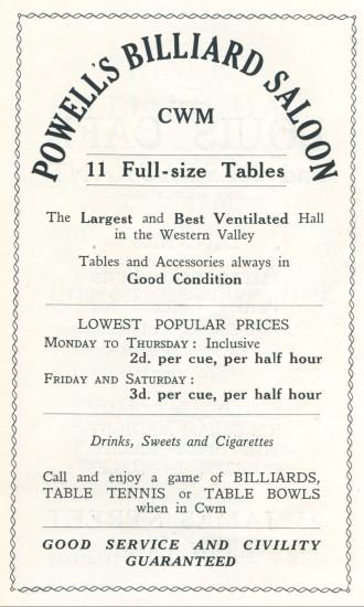 Powell's Billiard Saloon,Lucania