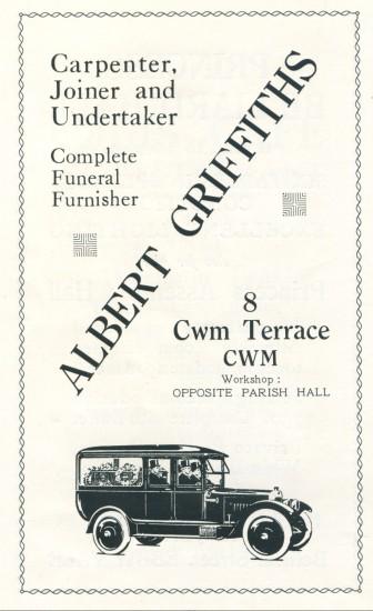 Albert Griffiths,Undertaker,Carpenter,Joiner.