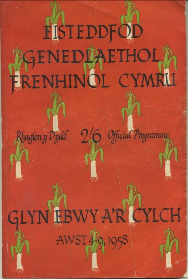 The Royal National Eisteddfod of Wales held in Ebbw Vale,August 4 to 9,1958.