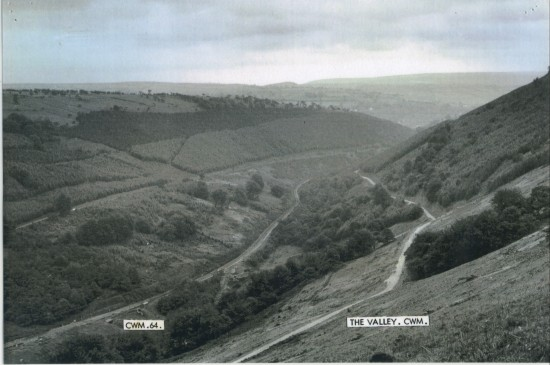 Ebbw Fawr Valley, view South from Cwm towards Aberbeeg