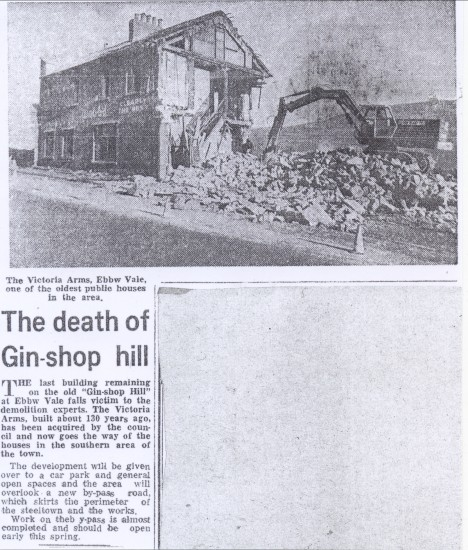 Demolition of The Victoria Hotel,Gin Shop
