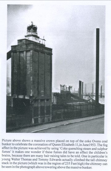 Crown on the Coal Bunker for Queen Elizabeth's Coronation in 1953