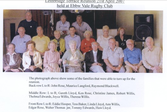 Reunion of some of The Residents of Lethbridge Terrace