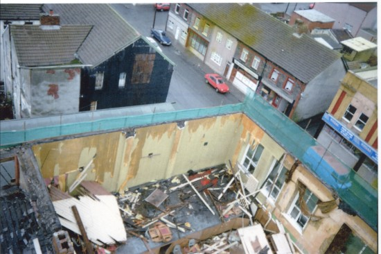 Interior Damage at Cwm Institute