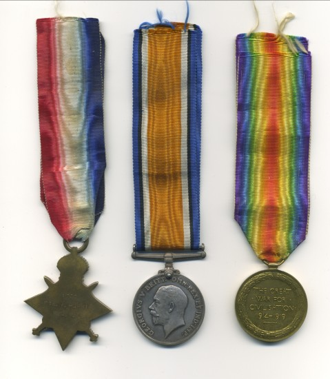 World War 1 Medals   Walter Harris                    known as Pip,Squeak and Wilfred.