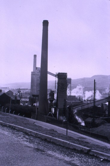 Ebbw Vale Coke Ovens opposite Garden City
