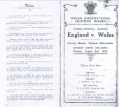 Quoits International Wales v England 1920