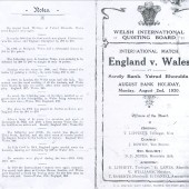 Quoits International Wales v England 1920