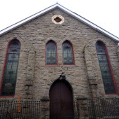 Memorial Organ and 3 brass plaques at Tabernacle Congregational Church, Chapel Street, Abertillery