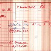 Arthur Gore British Army WWI Medal Rolls Index Card