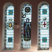 Stained Glass Window and Roll of Honour at Castle Street Congregational Church, Tredegar