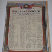 Roll of Honour of Tredegar Officers, N.C.O.s and men who lost their lives in the Great War