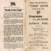 Programme and souvenir of Julian's visit, 28 & 29 June 1918 at Ebbw Vale pages 1 and 4
